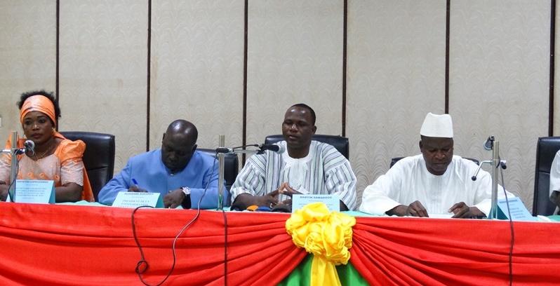 Les animateurs de la conférence de presse. © Burkina24