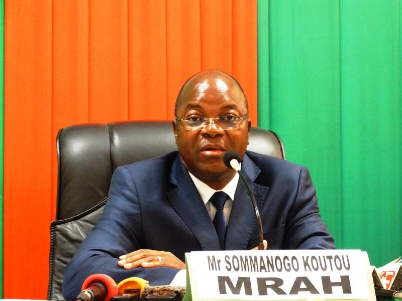 Sommanogo Koutou, ministre des ressources animales et halieutiques. © Burkina24