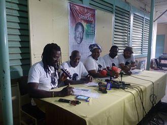 Les organisateurs lors de la conférence de presse - © R. Zinaba