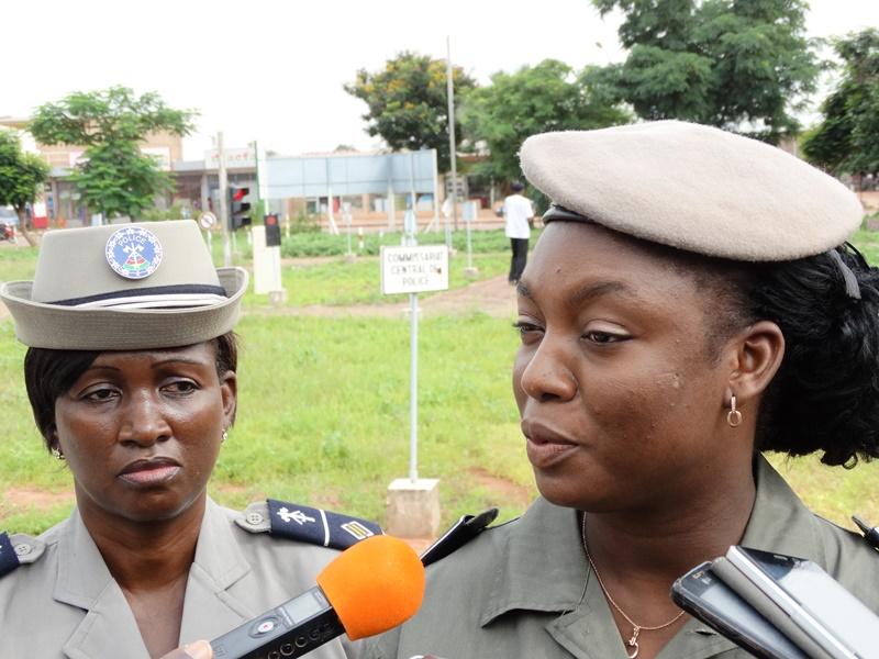 Commissaire Jocelyne Dabiré, vice présidente de l'Association des fonctionnaires féminins de la police nationale © Burkina24
