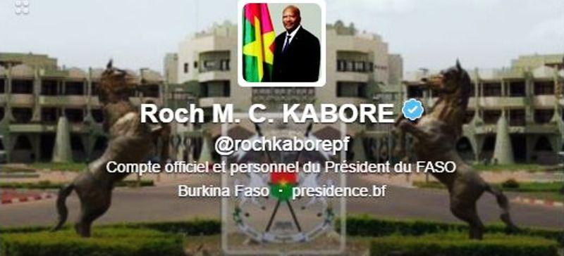 Le compte Twitter du Président du Faso est certifié.