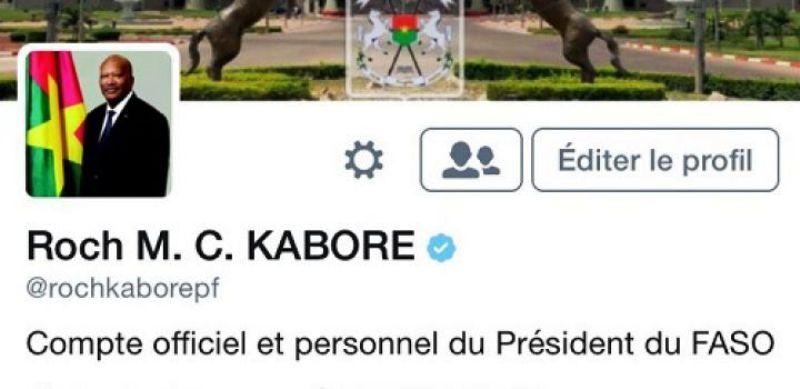 Compte Twitter du Président du Faso certifié