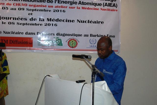 Le représentant du ministère de la santé a salué le soutien des acteurs ayant permis la mise en place du service de médecine nucléaire au CHUYO en 2012