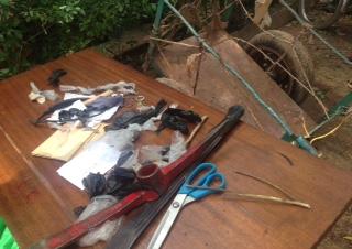 Le matériel saisi chez les présumés bandits
