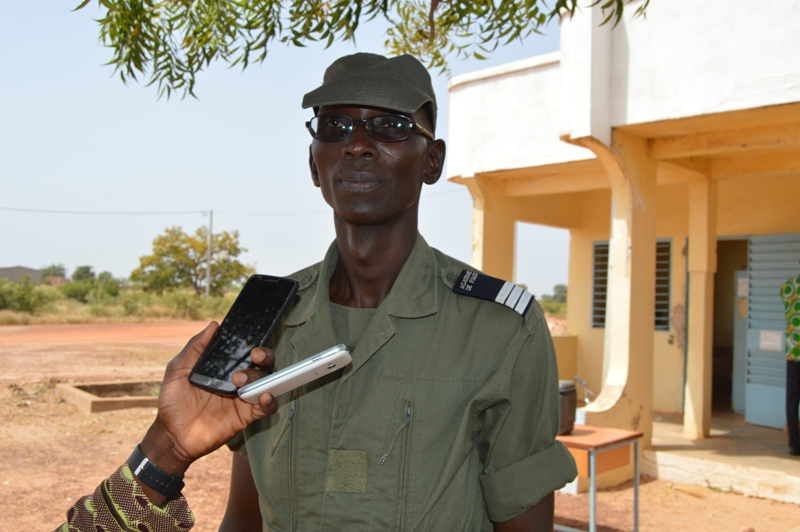 L'élève commissaire de Police, Sylvain Moise Tiendrébeogo, délégué général