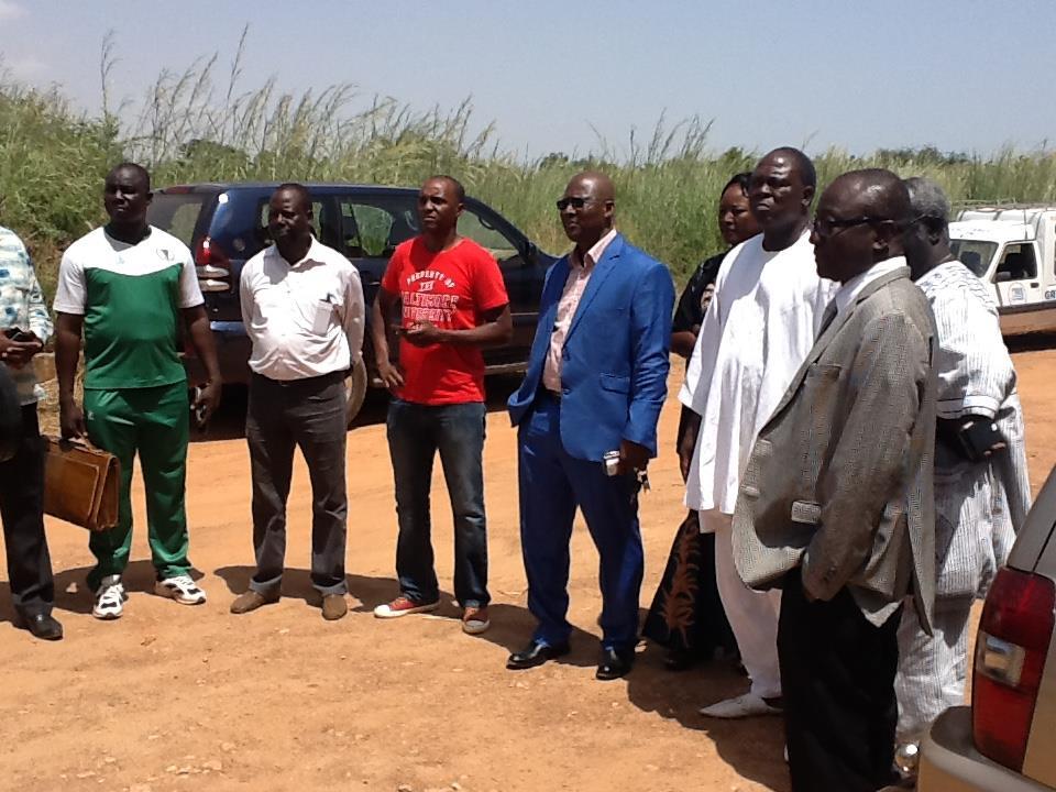 Une partie de l'équipe de Amado Traoré lors du dépôt des dossiers