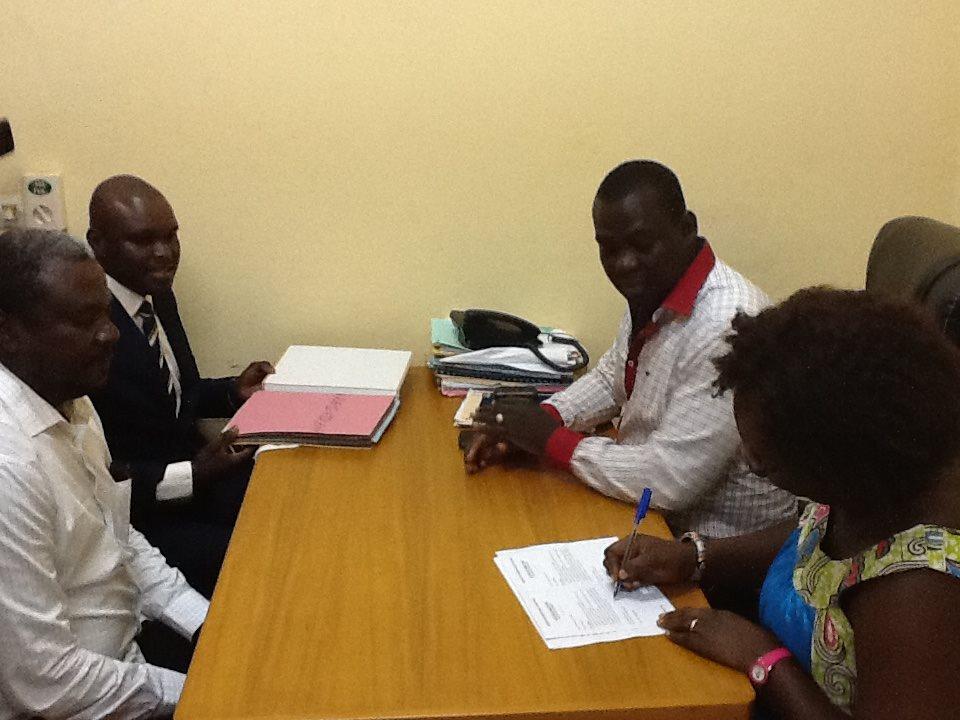 Les représentants de Bertrand Kaboré ont déposé les premiers le dossier de leur candidat