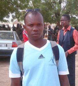 Seydou Belem, chargé à l'organisation l'Union des familles des martyrs de l'insurrection populaire