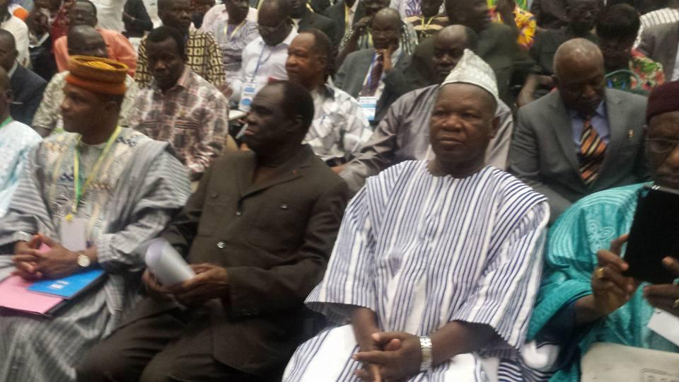 L'ancien président du Faso Michel Kafando participe à cette conférence nationale