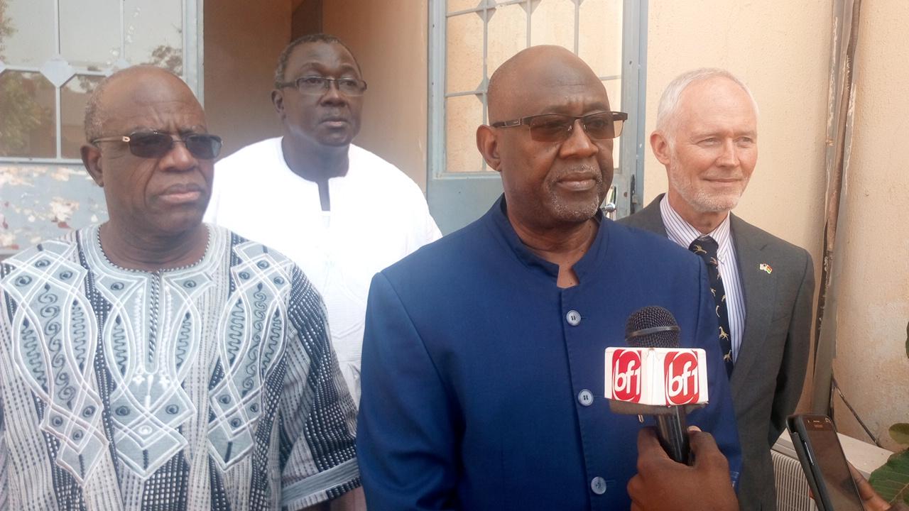 Le ministre de l'agriculture (micro) compte sur le soutien des PTF -  © Burkina24