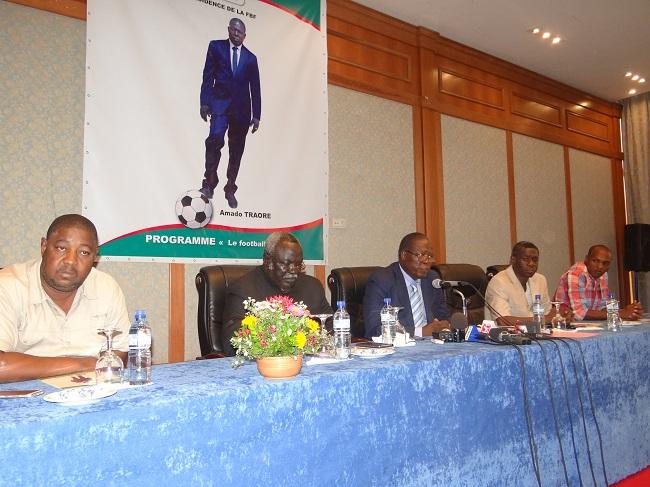 Amado Traoré était entouré de Issoufou Dem, Simon Kafando, Mory Sanou et Rahim Ouédraogo