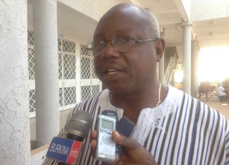 Augustin Blaise Hien, Secrétaire général de la Confédération nationale des travailleurs du Burkina (CNTB).