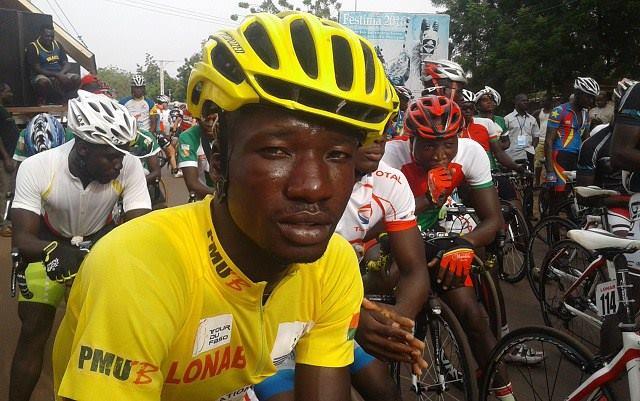 Harouna Ilbdouo a remporté le maillot jaune du Tour du Faso 2016 - © RTB Télé