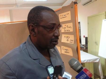 Idrissa Djibrilla, Secrétaire général de la Confédération démocratique des travailleurs du Niger (CDTN).