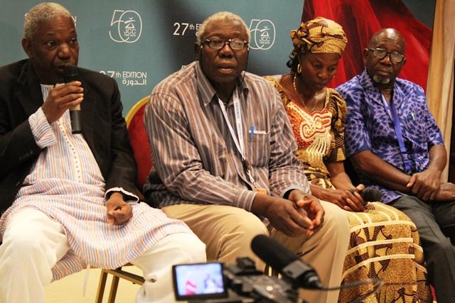 Idrissa Ouédraogo et ses comédiens, Barrou Oumarou, Assita Ouédraogo et Rasmané Ouédraogo