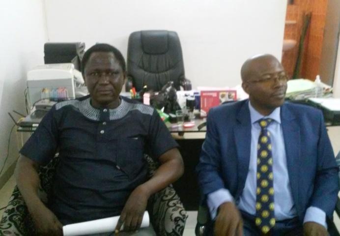 Sawadogo Lassané Esaie, président de la Chambre (à droite) et Soulama Jean Luc, secrétaire général