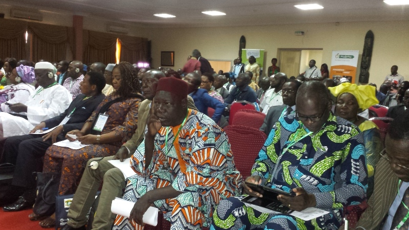 Une vue des particiapnts à la rencontre de Ouagadougou sur le commerce ds céréales des Afrique de l'Ouest.