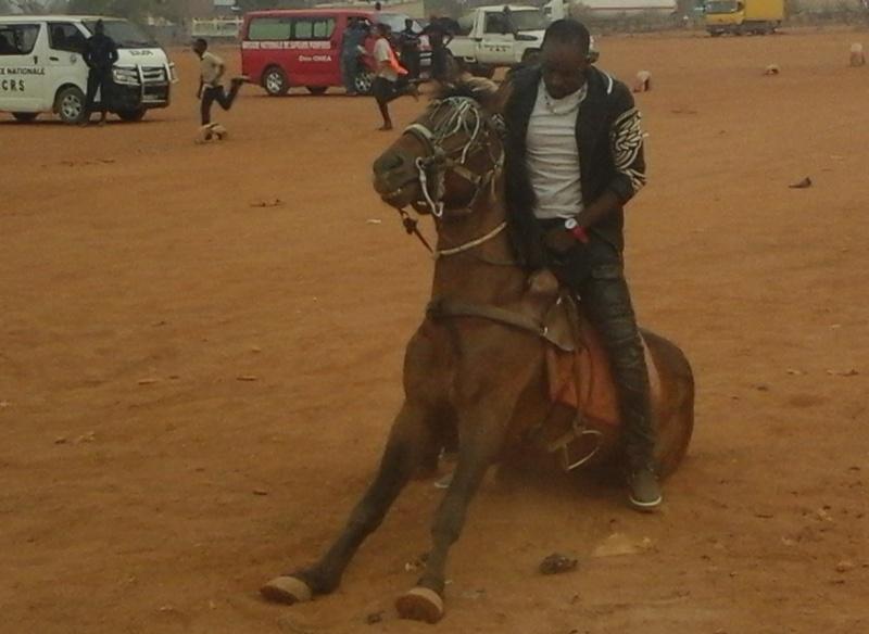 Des cavaliers ont procédé à des démonstrations équestres