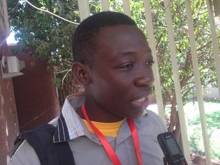Kévin Douamba, le plus jeune inventeur du FRSIT.
