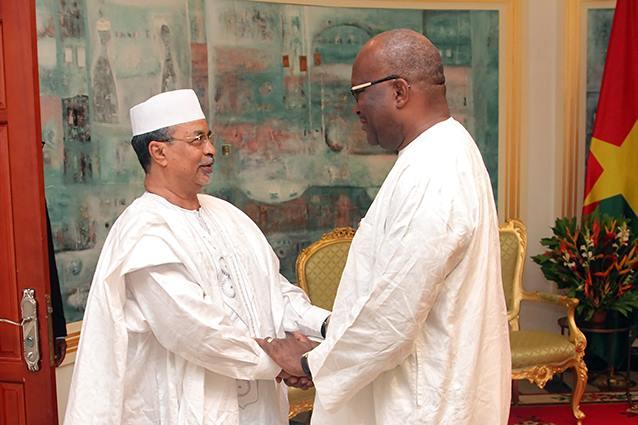 Le représentant spécial (à gauche)  avec le Président du Faso - Dircom Préfaso