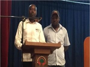 Moussa Zallé et Hamed Savadogo, respectivement président et vice-président du Camjbci.