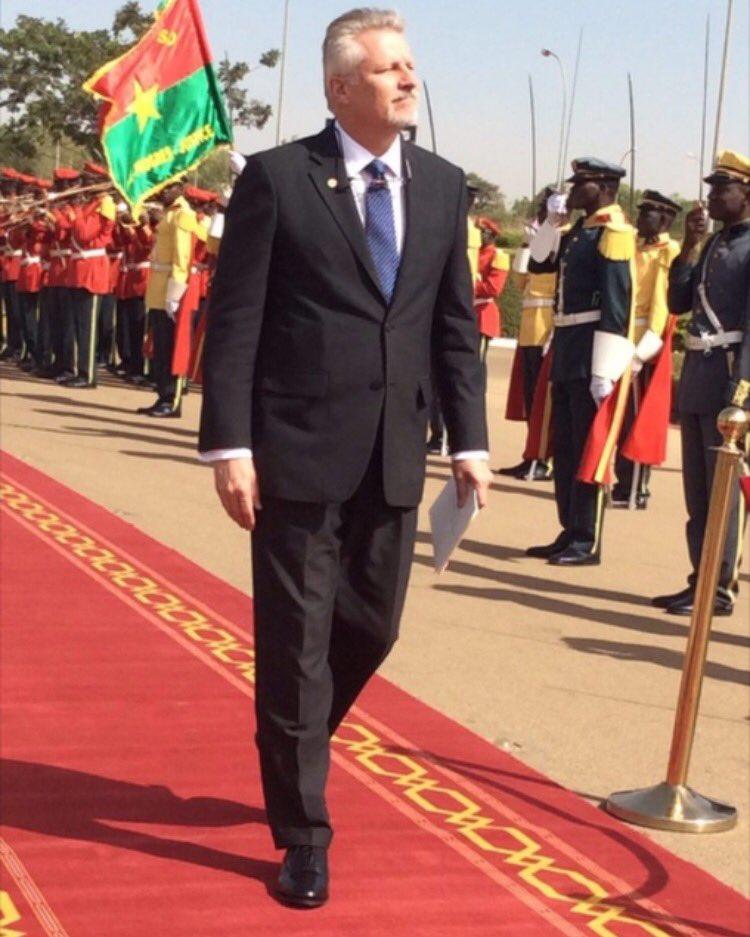 Andrew Young lors de la présentation de ses lettres de créances au Chef de l'Etat burkinabè - ©Dircom Préfaso