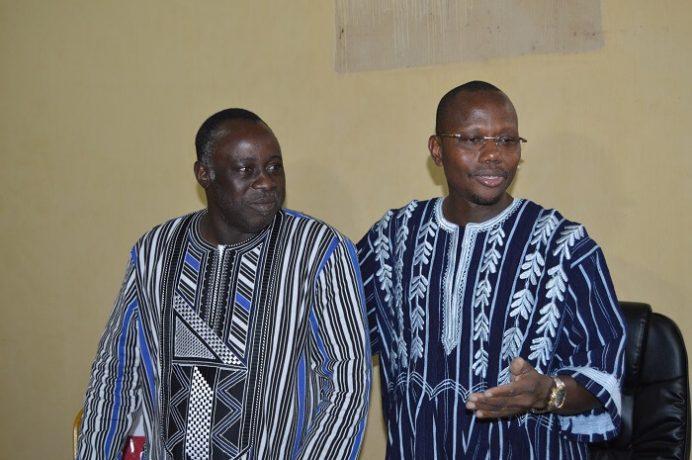 Le nouveau secrétaire général du MENA, le Pr Kalifa Traoré,  et le ministre