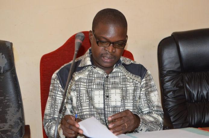 Moriba Traoré, le Secrétaire Général du syndicat Burkinabè des magistrats,